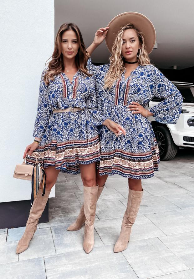 Sukienka Avanga Blue&Brown