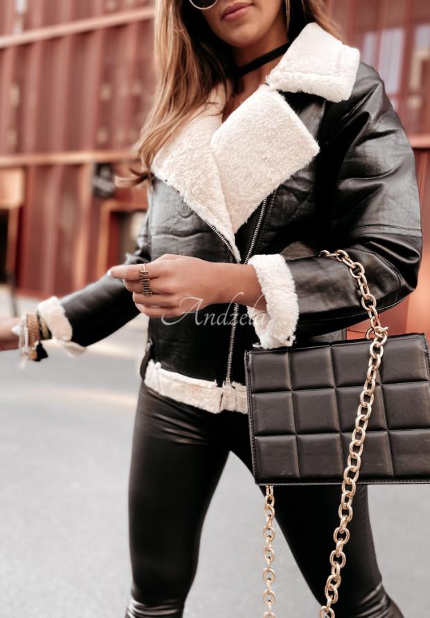 Kurtka Maurelle Skin Black&Beige