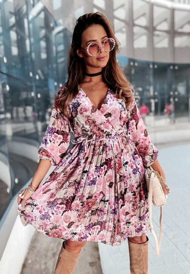 Sukienka Plisa Medellin Pink