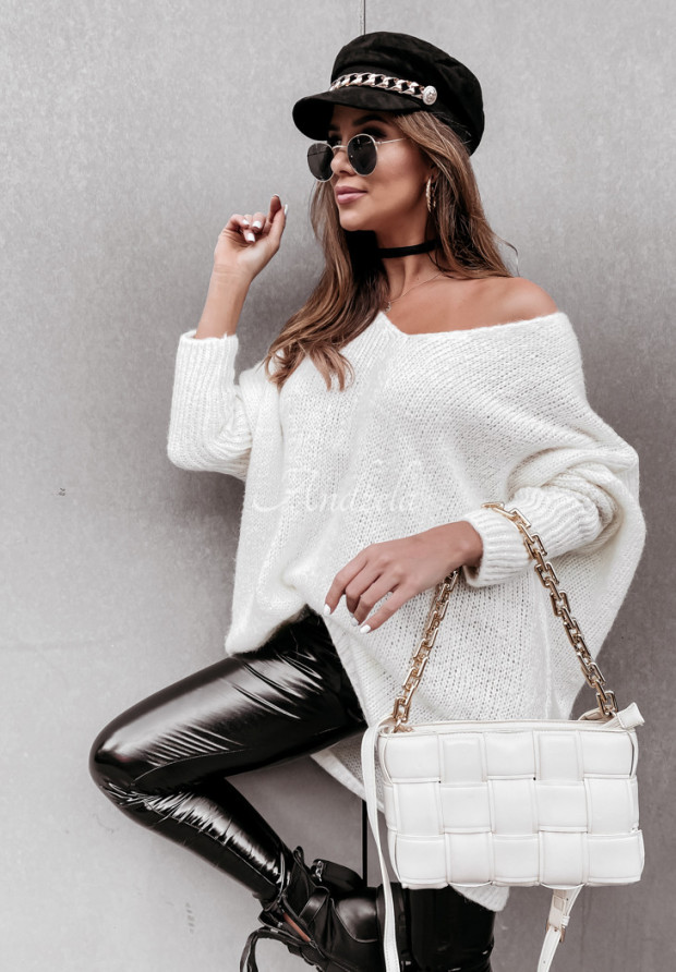 Sweter Oversize Tobby Ecru
