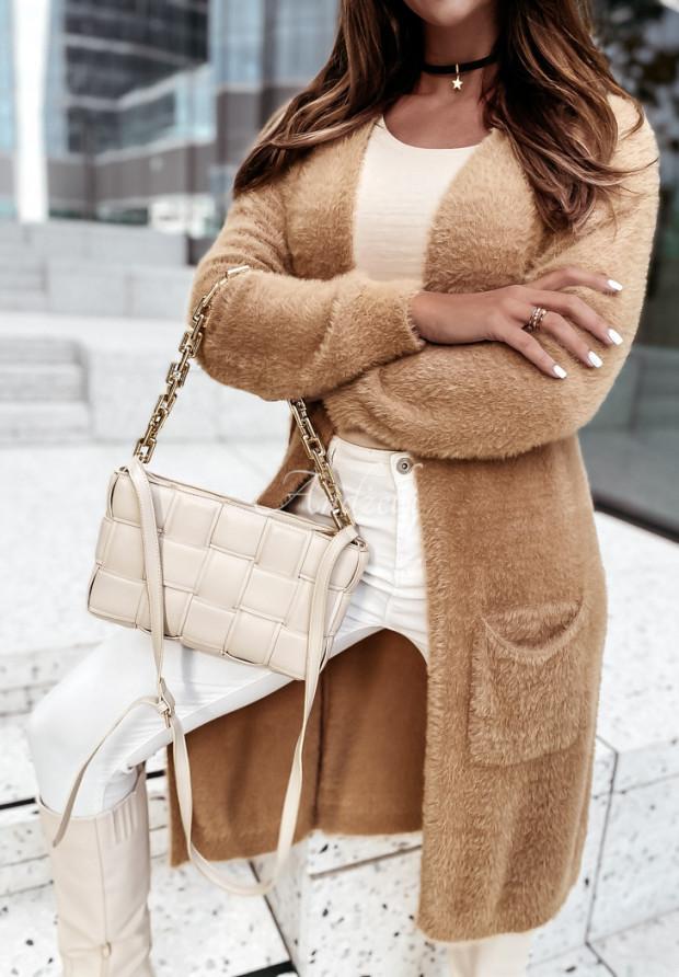 Sweter Kardigan Alpaka Morizio Camel