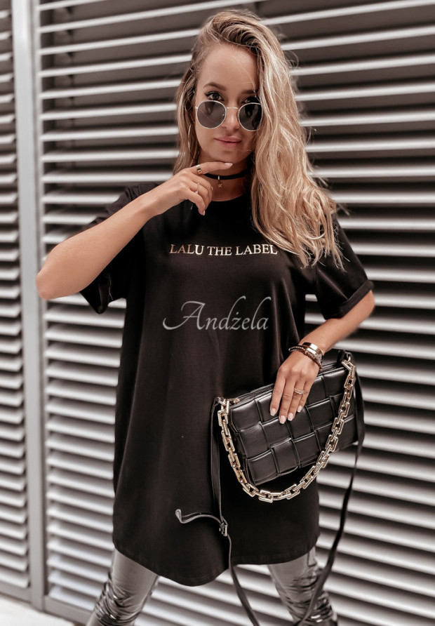 T-shirt Oversize Lalu Label Black