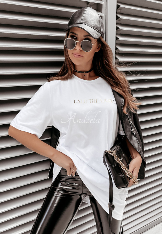 T-shirt Oversize Lalu Label White
