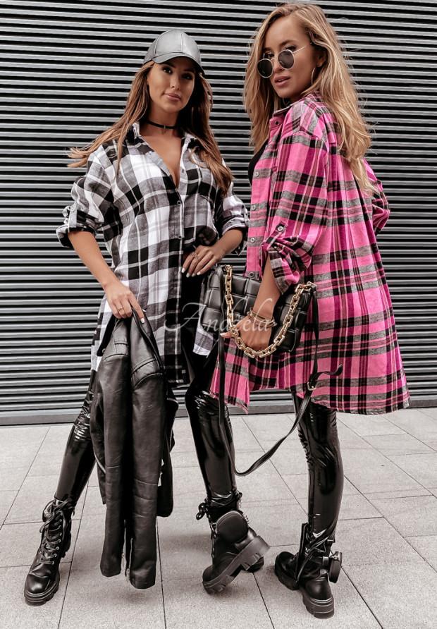 Sukienka Krata Cassidy Pink&Black