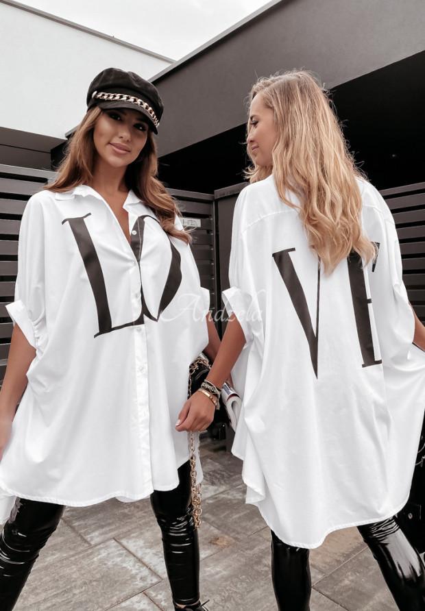 Koszula Oversize Love White
