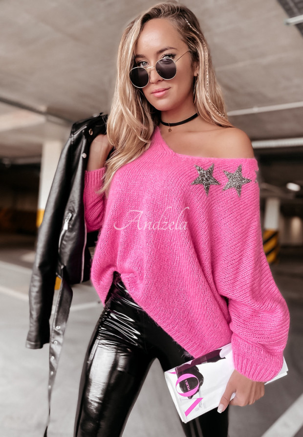 Sweter Oversize Starry Pink