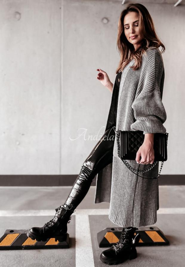 Sweter Kardigan Lomena Dark Grey