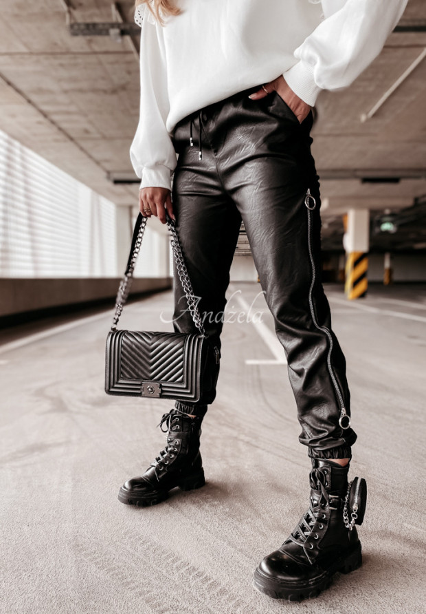 Spodnie Woskowane Morena Black