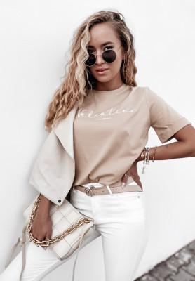 T-shirt Velsatino Brand Beige