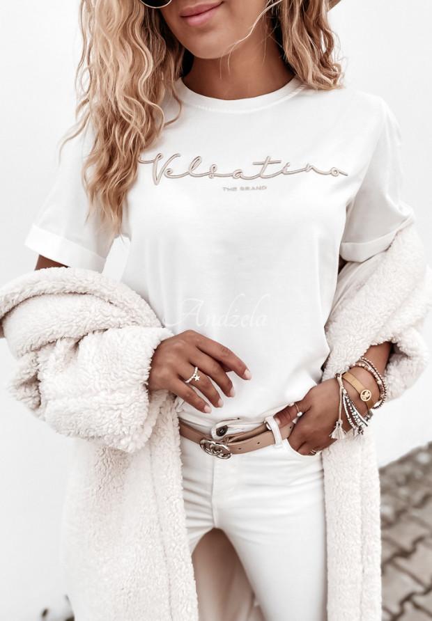 T-shirt Velsatino Brand Ecru