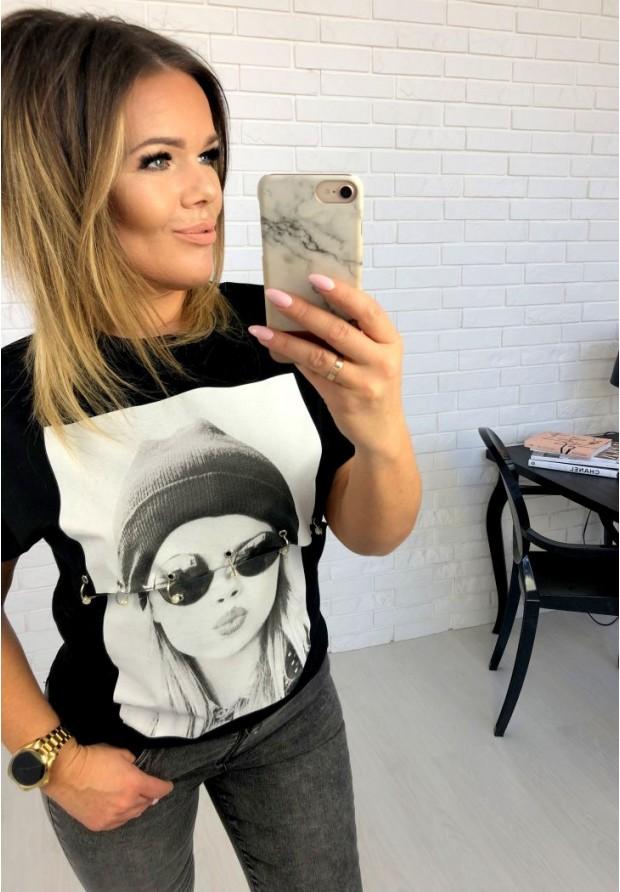 T-shirt Hipster Black