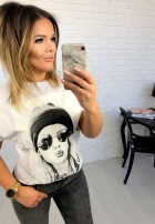 T-shirt Hipster White