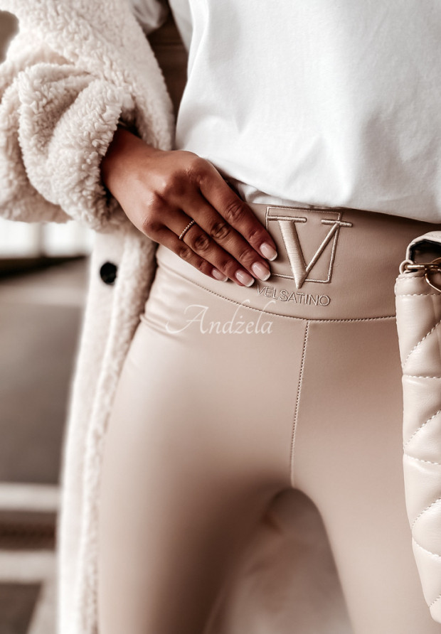 Spodnie Woskowane Velsatino Lia Nude