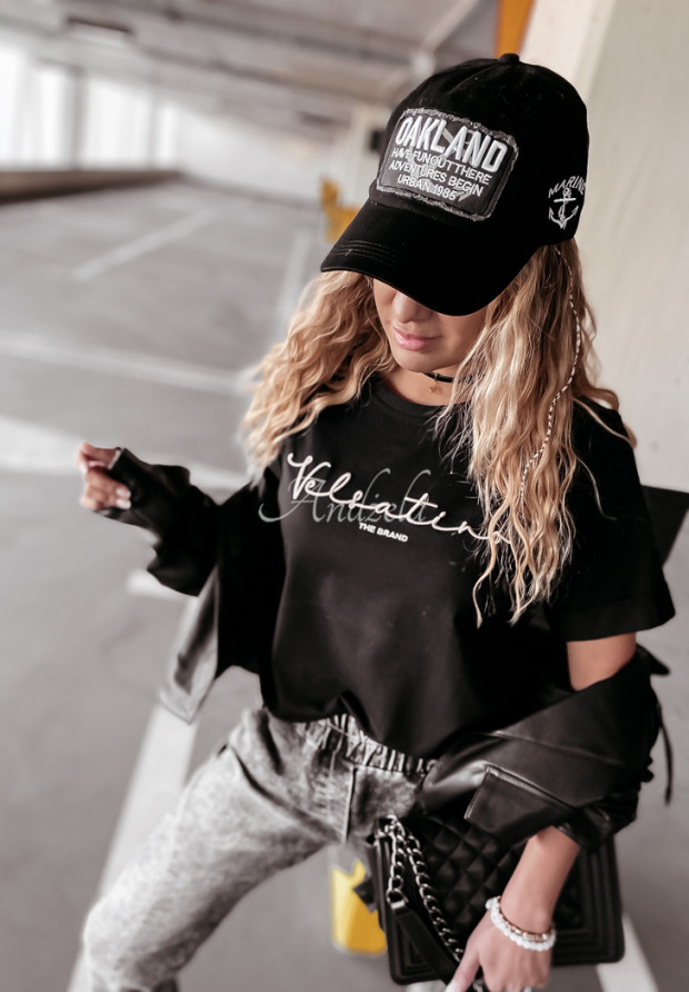 T-shirt Velsatino Brand Black