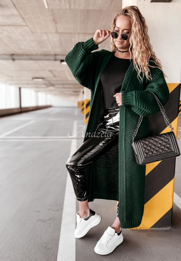Sweter Kardigan Ella Bottle Green