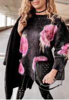 Sweter Moher Roses Black