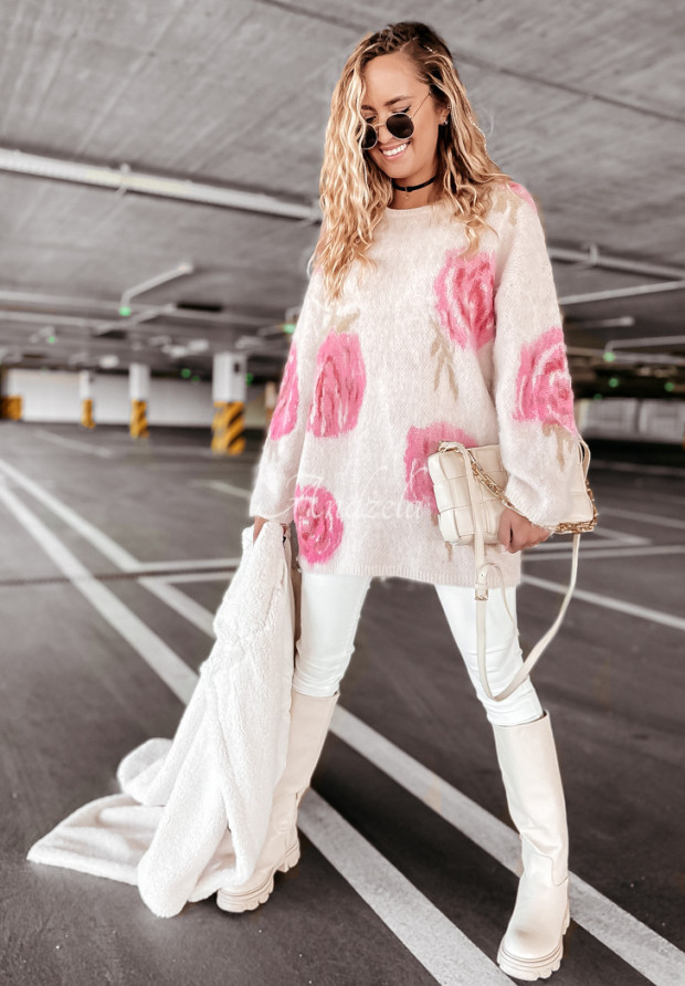 Sweter Moher Roses Beige
