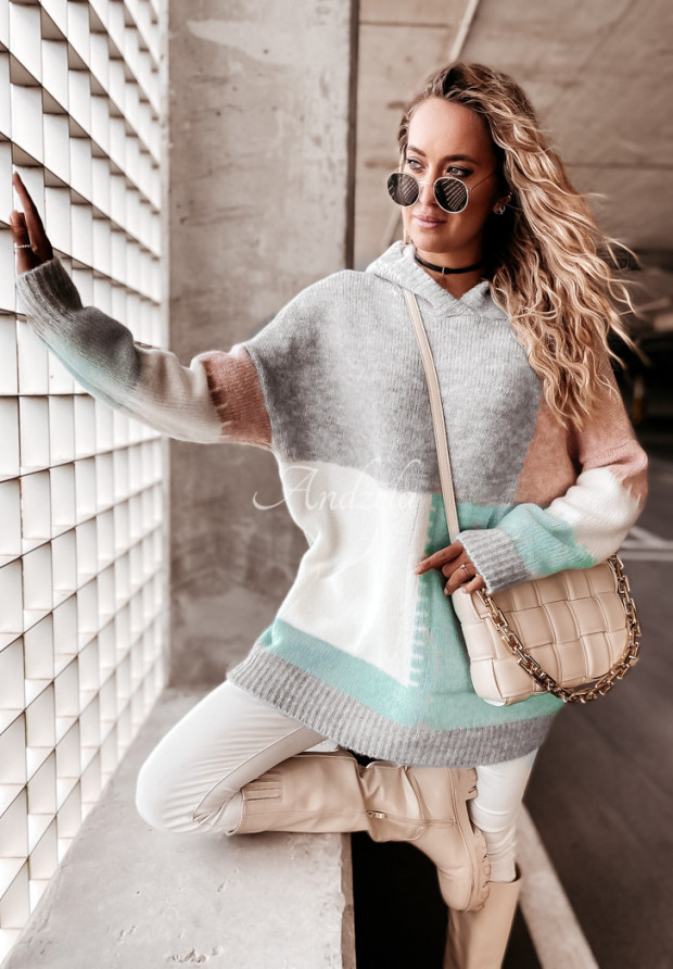 Sweter Oversize Hamilton Mint&Powder