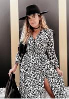 Sukienka Andrea Long Black&Ecru