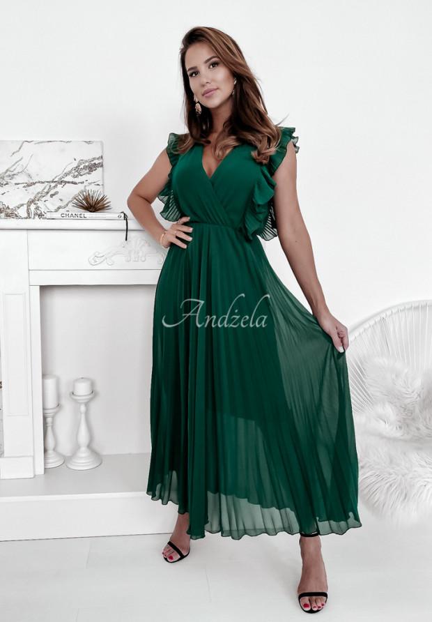 Sukienka Plisa Arania Bottle Green