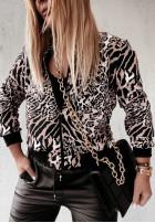 Bluza Bomberka Leopard