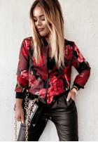 Bluza Bomberka Red Roses Black