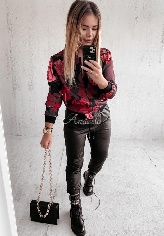 Bluza Bomberka Red Rose Black
