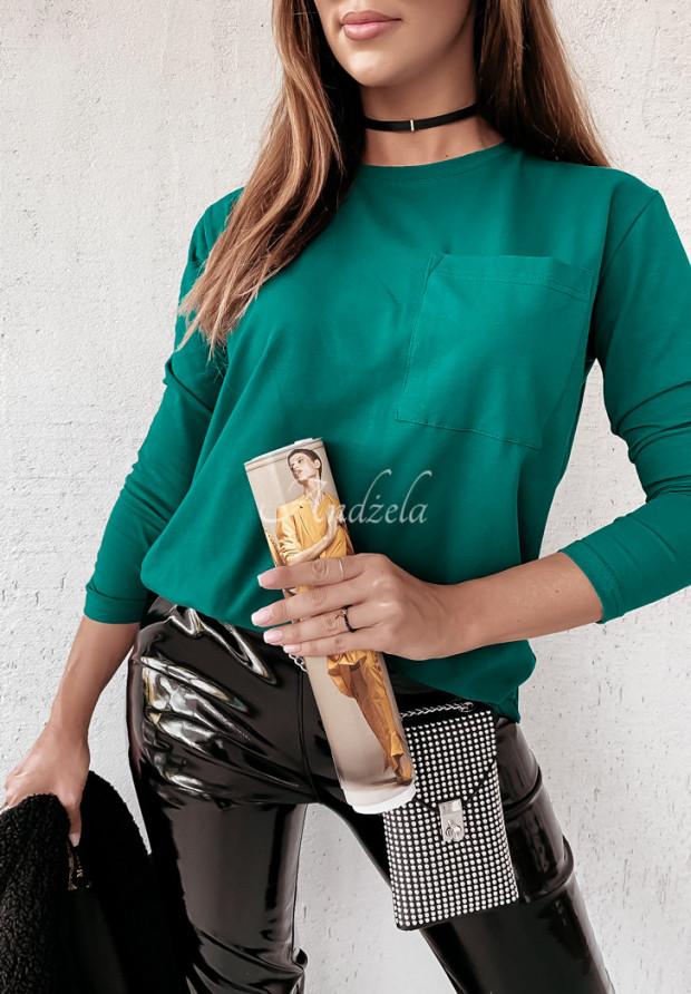 Bluzka Pocket Long Bottle Green