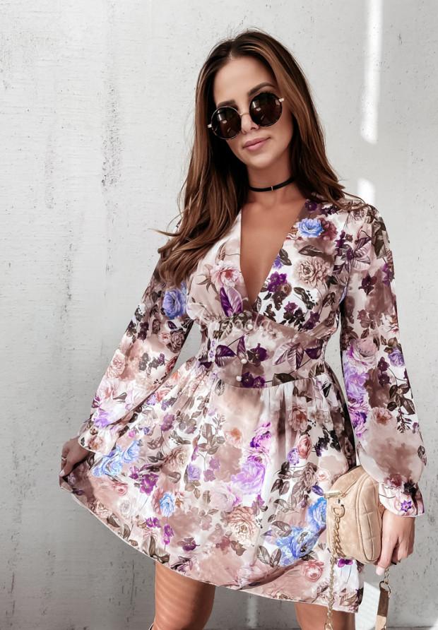Sukienka Lea Peony Beige&Violet