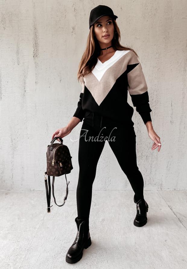 Komplet Sweterkowy Rilende Black&Beige