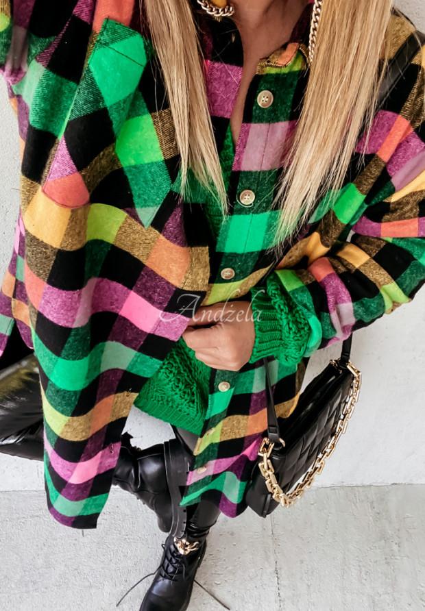 Sukienka Koszula Krata Abby Color