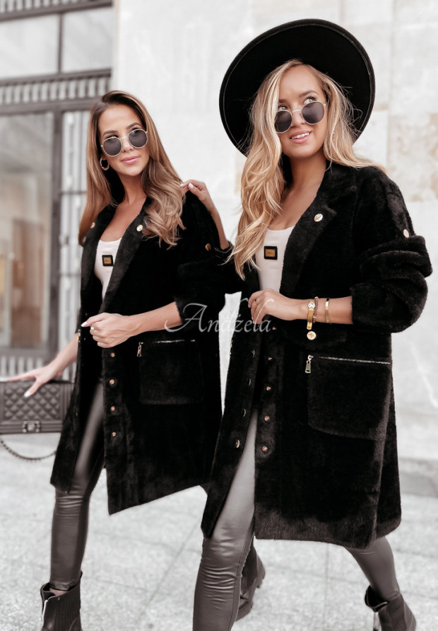 Płaszcz Alpaka Lirosse Black