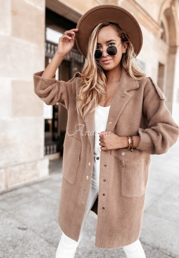 Płaszcz Alpaka Lirosse Camel