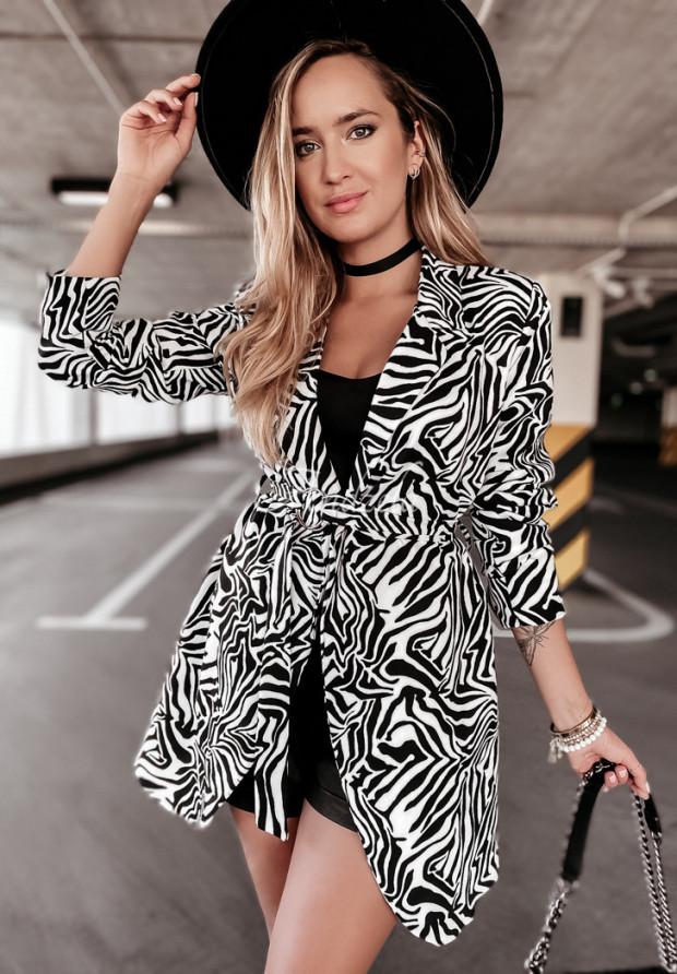 Marynarka Antri Zebra Black&White