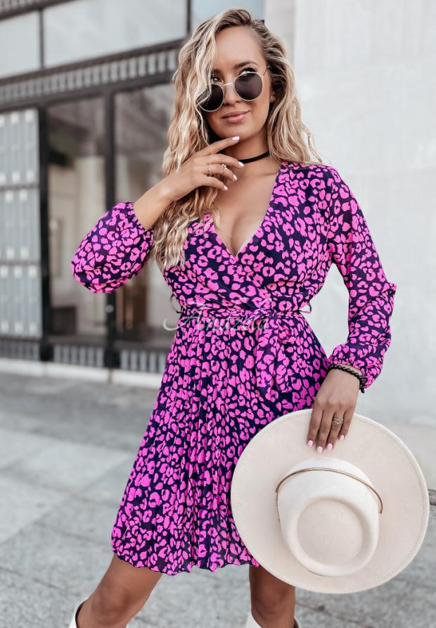 Sukienka Plisa Rory Panter Pink