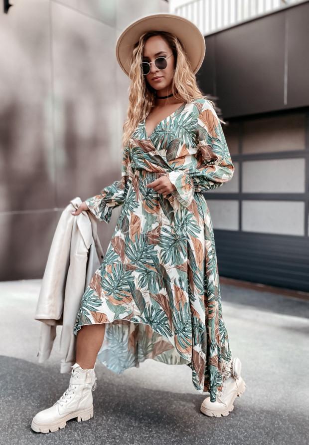 Sukienka Lofelia Long Green&Camel