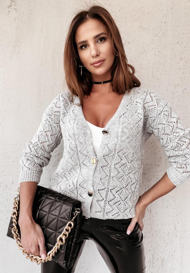 Sweter Kardigan Safia Grey