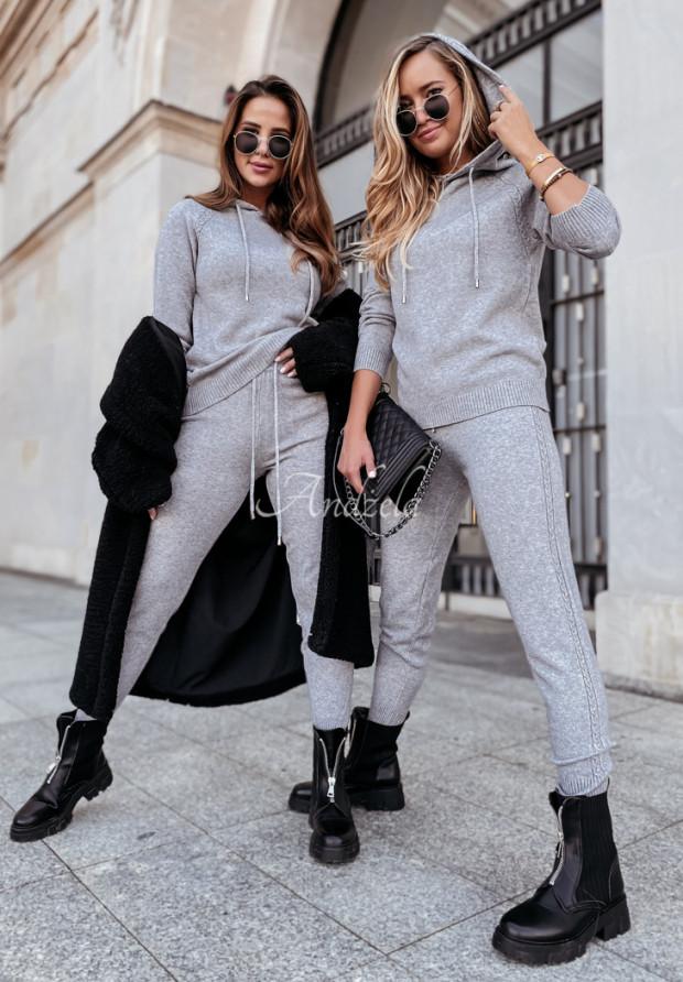 Komplet Sweterkowy Lavani Grey