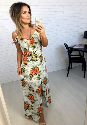 Sukienka Maxi Ovetto Ecru