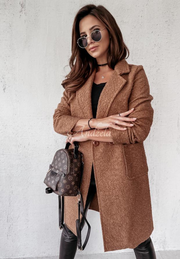 Płaszcz Kożuch Marissa Camel