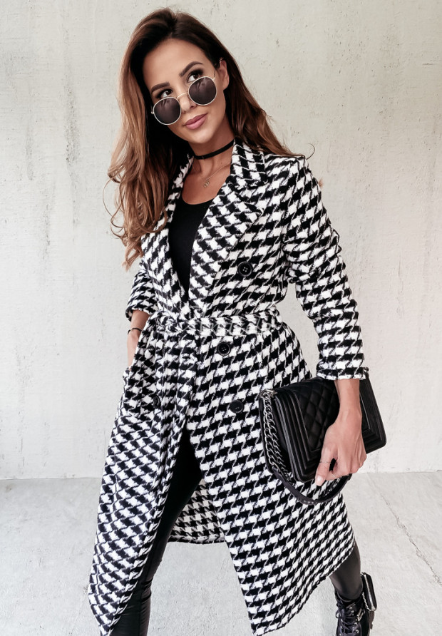 Płaszcz Pepitka Fairmont Black&White