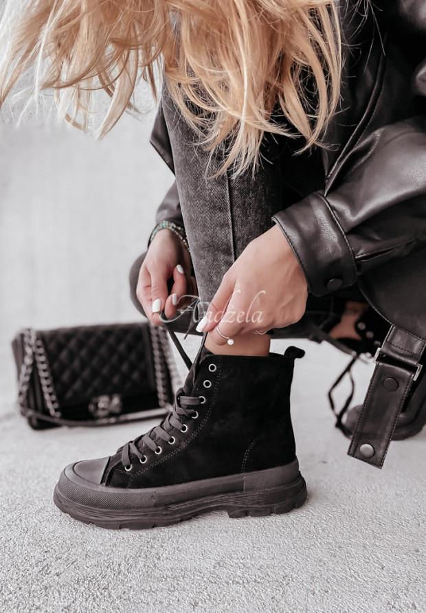 Trampki Trendy Velvet Black