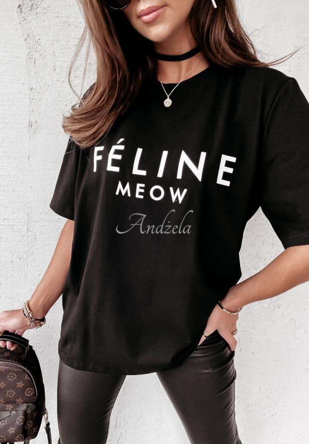 T-shirt Feline Black