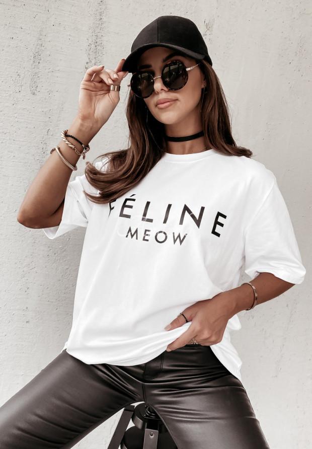 T-shirt Feline White
