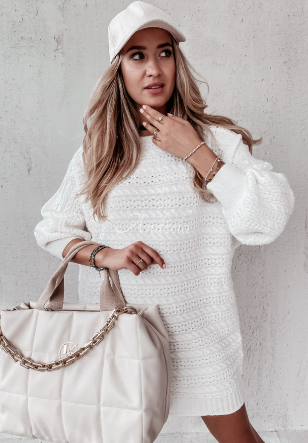 Sweter Oversize Knitty Ecru