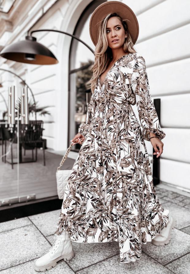 Sukienka Plisa Lazzare Beige