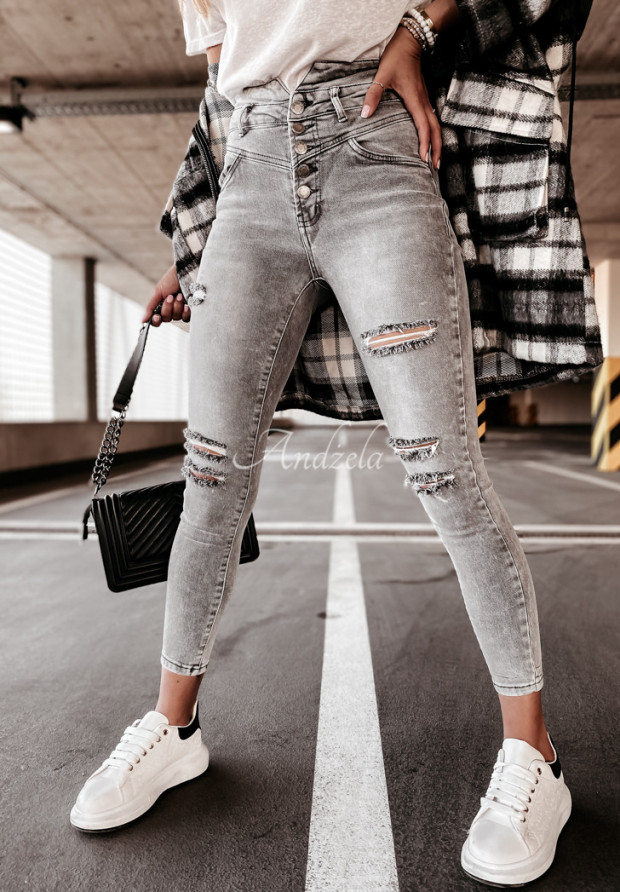 Spodnie Jeans Mavis Grey