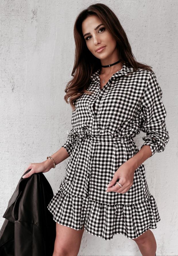 Sukienka Krata Viridiana Black&White