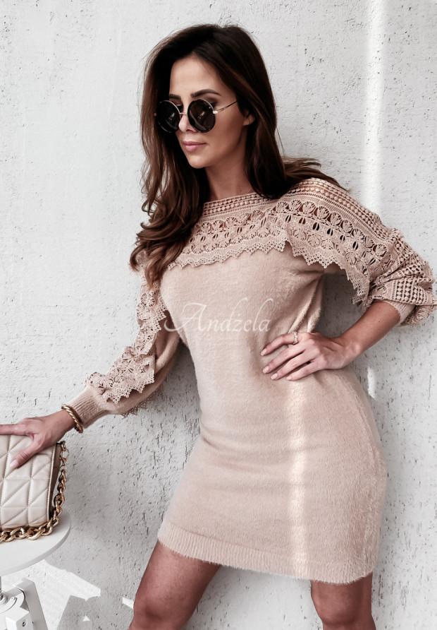 Sweter Sukienka Mavina Nude