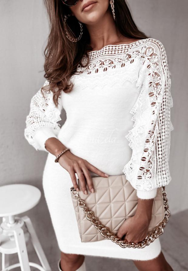 Sweter Sukienka Mavina White